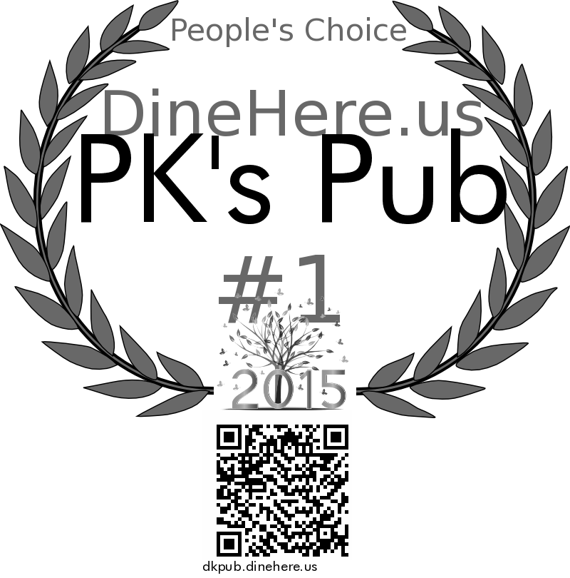 PK's Pub DineHere.us 2015 Award Winner